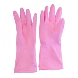 Перчатки латексные UNIBOB с напылением, Розовые, пара