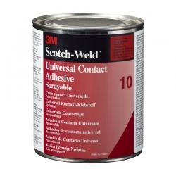 Клей контактный 3M Scotch-Weld 10 универсальный, Желтый, 1л