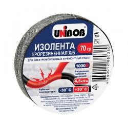 Изолента Х/Б UNIBOB прорезиненная, 70гр