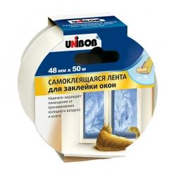 Лента ПВХ UNIBOB для заклейки окон на зиму, 50м:48мм