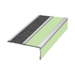Угловой алюминиевый профиль для края ступени, 73х36х3000мм
