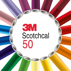 Графическая пленка 3М Scotchcal 50, Ровные пов., Среднесрочная